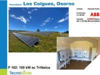 Proyecto particular con paneles solares en Los Coigues Osorno paneles solares