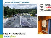 Proyecto particular en Chochuenco Panguipulli con paneles solares