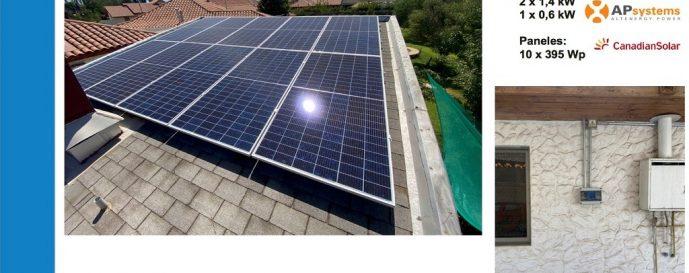 Proyecto particular de 3.95kW Trifásica con paneles solares en Los Rinconada de los Andes